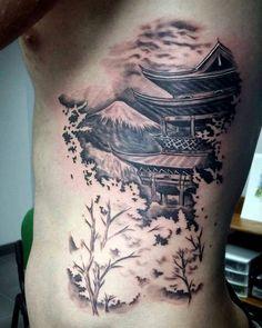 Pagoda Tattoo Oriental