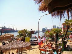 Beachclubs Hamburg and der Elbe