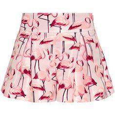 Red Valentino - Flamingo Peplum Shorts