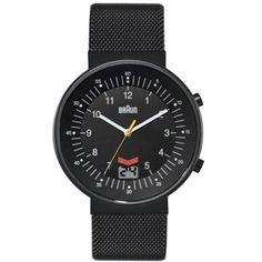 Braun - Mens Radio Contolled Black Stainless Steel Watch - BN0087BKBKMH - RRP: £195.00 - Online Price: £146.25