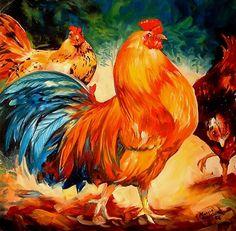 """""""Rooster & Hens"""" par Marcia Baldwin"""