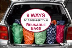 I had to giggle over the weekend when Hubby did the shopping on his own and forgot the bags...does it happen to you?
