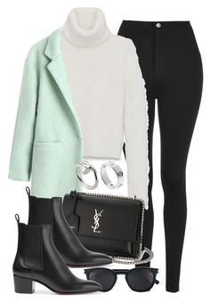 """Sin título #13512"" by vany-alvarado ❤ liked on Polyvore featuring Topshop, Yves Saint Laurent, Christian Louboutin and Cartier"