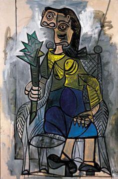 * Femme à l'artichaut (1941 ? 1942 ?) Pablo PICASSO