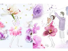 ilustração com flores16