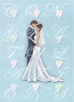 Sarah Summers Bridal Vector Illustration.