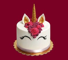 Unicorn Themed Birthday, Birthday Cake, Cake Decorating, Food And Drink, Sweet, Barbie, Cakes, Themed Cakes, Pastries
