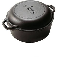 Lodge Logic Cast Iron 5 Quart Double Durable Dutch Oven For Excellent Source of Nutritional Iron by Lodge ** You can find out more details at the affiliate link of the image.