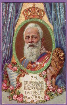 Regierungsjubiläum Luitpold von Bayern - Stempel Frankatur 1911