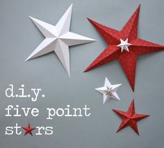 Tutorial for making 5 point paper stars. We did this in Scouts last week and they came out fantastic! Really cool