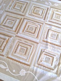 "Summer Linen quilt pattern and kit 76.5"" x 76.5"""