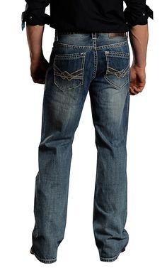 Rock & Roll Cowboy® Light Stonewash Cannon Loose Fit Straight Leg Jeans MOC674644