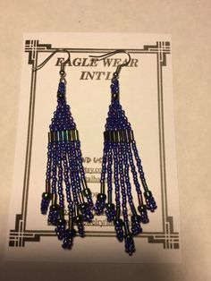 Gunmetal blue earrings