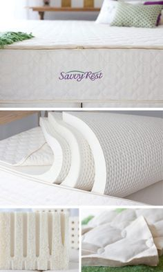 Savvy Rest Organic mattresses are made with natural latex, certified organic wool and certified organic wool.