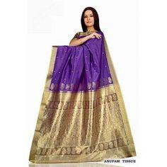 Hot Pink Art Silk Sari Saree Wrap- Indian Selections-Clothing-Women's-Dresses