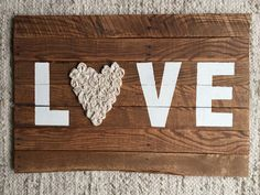 Love with Rosettes Pallet Sign