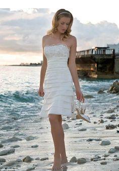 Casual Short Wedding Dresses Beach