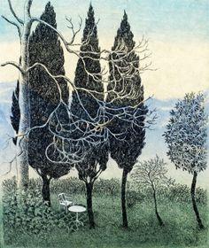 2013 - Krohn Inari - Garden - woodcut, line etching