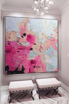 Large pink gold blue art abstract painting fuchsia blue fuchsia abstract painting abstract landscape painting art – Merys Stores – Famous Last Words Contemporary Abstract Art, Contemporary Landscape, Contemporary Artists, Modern Contemporary, Canvas Painting Landscape, Painting Abstract, Painting Art, Large Painting, How To Abstract Paint