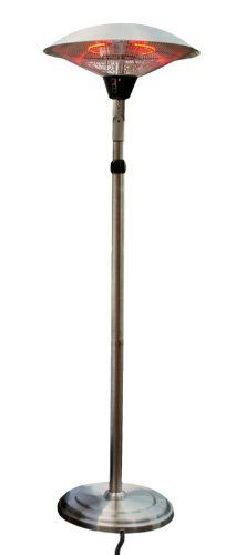 AZ Patio Heaters HIL-6084SH-T Telescopic Electric Patio Heater with Adjustable Head by AZ Patio Heaters. $169.25. 1500 Watts Made of Stainless Steel. Adjustable Electric Heater. Safety Anti-tilt Switch. Telescopic Height and Tilting Head. Indoor and Outdoor Use. Stainless steel electric heater with telescopic adjustable head. 1500 Watts, safety anti-tilt switch. Easy 10 minute assembly. 5-Feet to 7-Feet tall, heats up to 10 square feet area, variable temperature control.