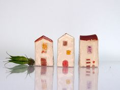 Handmade Miniature ceramic Houses Glossy by VitezArtGlassDesign