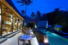 The Purist Villas Resort and Spa, Bali wellness holidays, Bali luxury villas with private pool in Ubud, Indonesian luxury hotel escape, nature and yoga. Bali Luxury Villas, Villa With Private Pool, Resort Villa, Tropical Garden, Ubud, Places To Visit, Spa, Mansions, House Styles