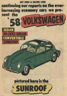 Issue 37 of Hot Rods and Racing Cars has a 3-page feature on the 1958 Volkswagen Type 1.  http://www.carsandracingstuff.com/library/h/hotrodsandracingcars037.php