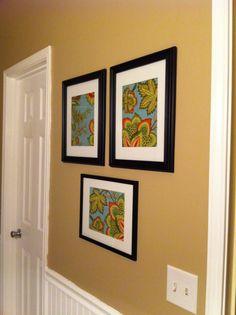 framed fabric easy art