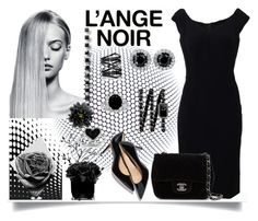"""""""L'ange noir"""" by jeneric2015 ❤ liked on Polyvore featuring Dolce&Gabbana, Chanel, Kevin Jewelers, Eva Fehren, Maxwell Dickson, Hervé Gambs, women's clothing, women, female and woman"""