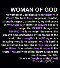 Women, it's time for us to walk in our true identity in Christ and not succumb to the worldly pleasures. We are called to be princesses, daughters of a King.