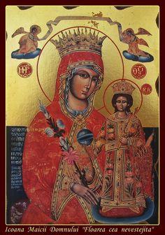 "Dositeea: Maica Domnului ""Floarea cea nevestejita"" Madonna Art, Mary And Jesus, Blessed Mother, Religious Art, Virgin Mary, Virgo, Christ, Saints, Career"