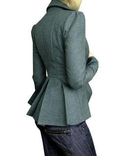Dalia Jacket customavailable in Dark Grey by lauragalic on Etsy, $140.00
