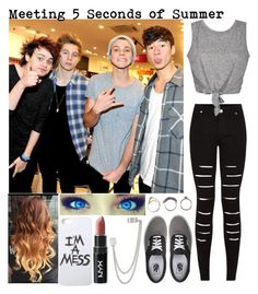 """""""Meeting 5 Seconds of Summer"""" by abigail-rodriguez22 ❤ liked on Polyvore"""