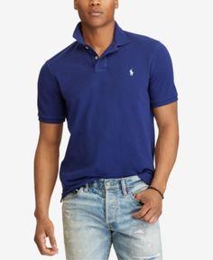 288268af0128 Polo Ralph Lauren Men s Custom Slim Fit Mesh Polo   Reviews - Polos - Men -  Macy s. Polo Shirt OutfitsBlue ...