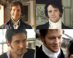 Mr. Darcy (2005), Mr. Darcy (1995), Mr. Thornton, Captain Wentworth ...choose if you can...