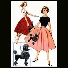 Girls Poodle Skirt Top Bowling Jacket McCalls 8899 Sewing Pattern