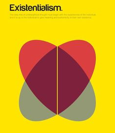 Existentialism, visualized.  The idea that all philosophical thought must begin with the experiences of the individual and it is up to the individual to give meaning and authenticity to their own existence.  By Genis Carreras