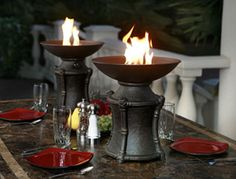 Tabletop Fire Bowl | .The Agio Table Top Fire Urn is an ultra-portable propane fire ...