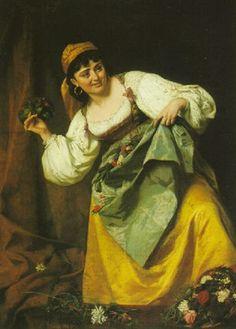 Ancona, Vito d', (1825-1884), The Bouquet, 1869, Oil