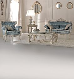 rococo lounge set other colors including PURPLE & customers own fabric SOFA $6498.40 ARM CHAIR $4428.12 TABLE $4293.93