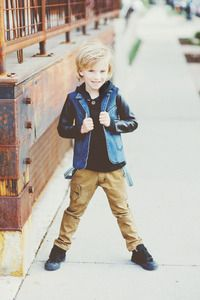 Brown chinos with glam details and tons of attitude. Gotta love new line Aven for the coolest boys.