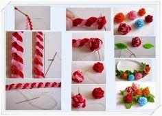 ARTE COM QUIANE - Paps,Moldes,E.V.A,Feltro,Costuras,Fofuchas 3D: passo a passo flor de sianinha