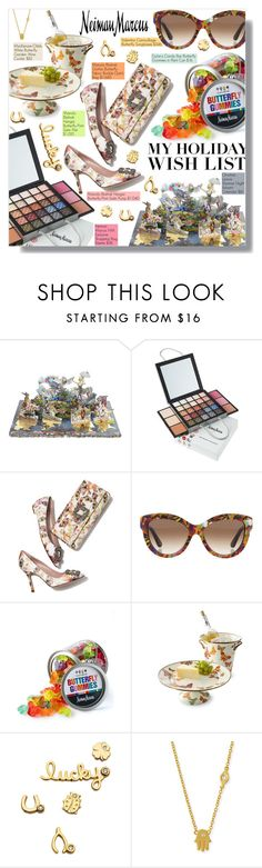 """The Holiday Wish List With Neiman Marcus: Contest Entry"" by rivlyb ❤ liked on Polyvore featuring Christian Lacroix, Neiman Marcus, Manolo Blahnik, Valentino, Dylan's Candy Bar, MacKenzie-Childs, Sydney Evan, women's clothing, women and female"