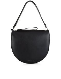 Victoria Victoria Beckham Black Leather Swing Shoulder Bag