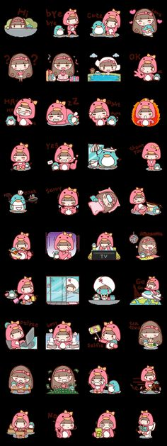 Little Pinku and Cute penguin – LINE stickers Doodle Drawings, Cartoon Drawings, Cute Drawings, Kawaii Stickers, Funny Stickers, Bird Costume, Cartoon Painting, Drawing Projects, Cute Penguins