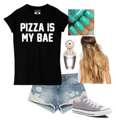 """Pizzzzzaaaaaa "" by mayarose1704 ❤ liked on Polyvore featuring Zara, Converse, Marc Jacobs and Johnny Loves Rosie"