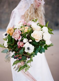 Blooming summer bouquet: http://www.stylemepretty.com/oregon-weddings/2015/09/04/romantic-seaside-bridal-boudoir-inspiration/ | Photography: Archetype Studio - http://archetypestudioinc.com/