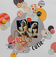 #papercrafting #scrapbook #layout HelloCutie_DianePayne_GB-1
