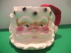 1960's santa coffee mug
