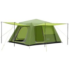 e1beac10e0 KingCamp CAMP KING 8-person 2-room Instant Camp Cabin Tent, 13' × 9', with  Full Cover Rain Fly